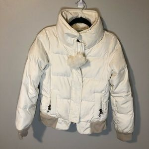 Juicy Couture off white puffy bomber coat M